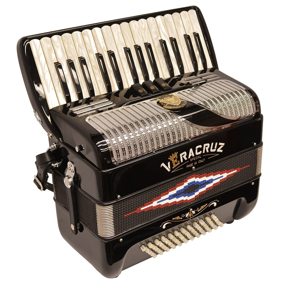 Excalibur Veracruz MII Piano Accordion - Black & Chrome