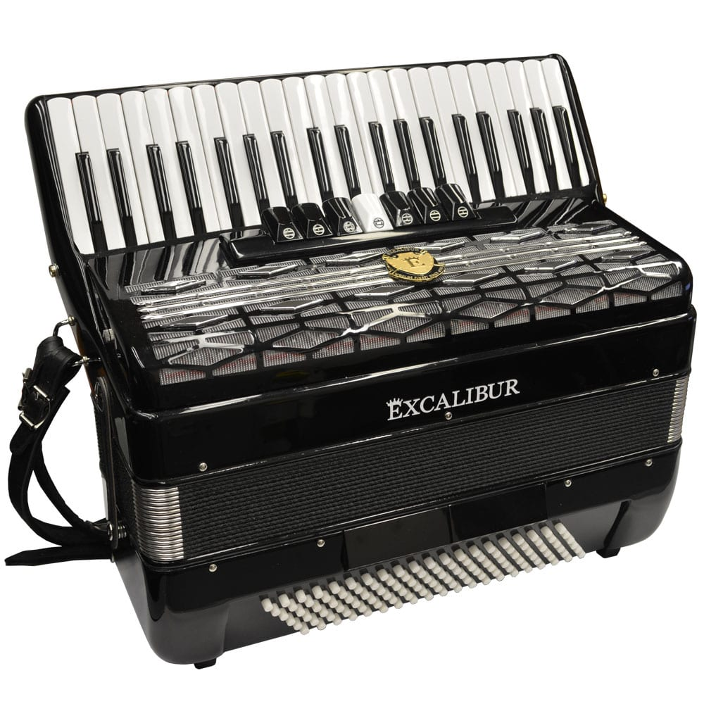 Excalibur Super Classic 120 Bass Accordion - Black