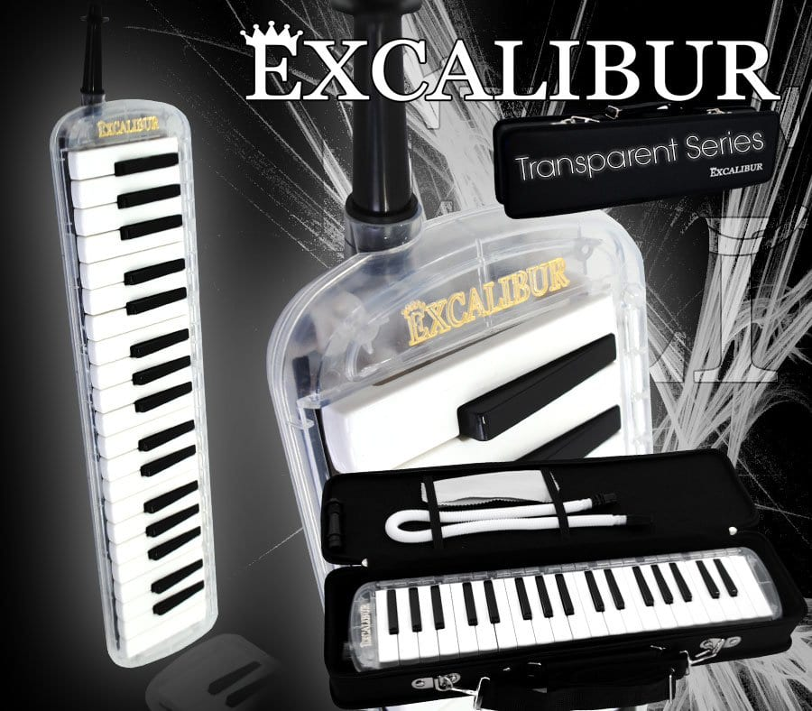 Excalibur 37 Note Transparent Pro Series Clear