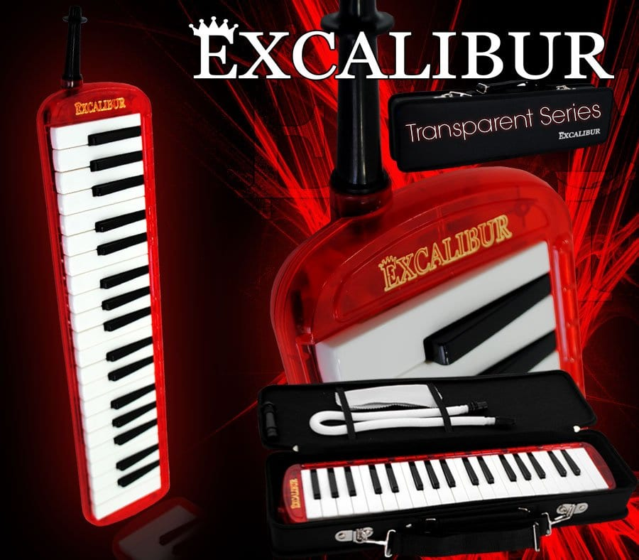 Excalibur Melodica - Transparent Series (Burning Red)