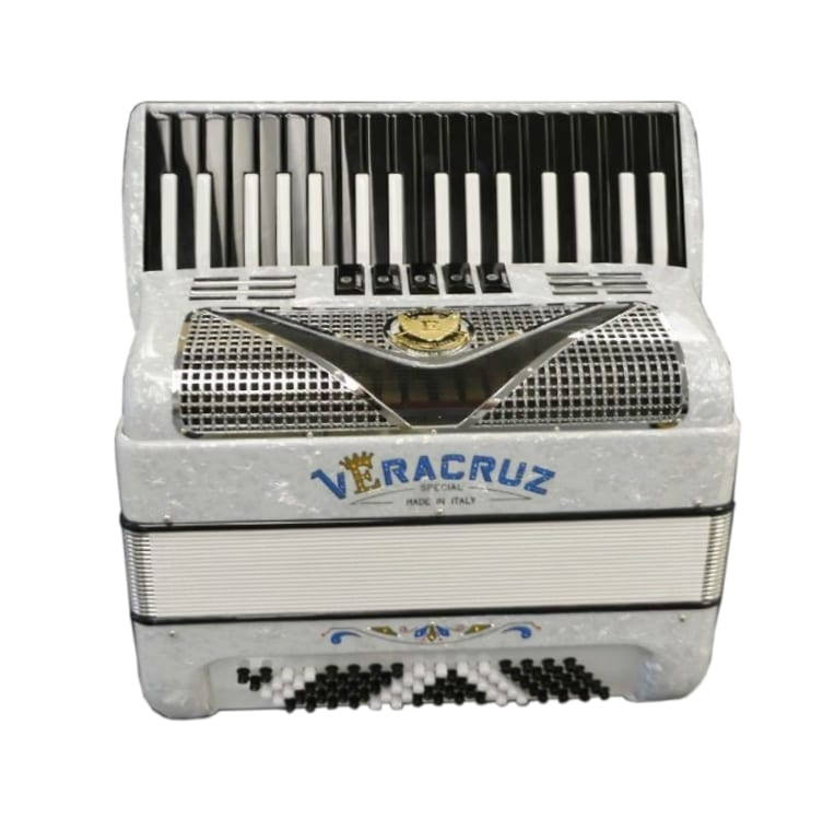 Excalibur Veracruz 80 Bass Piano Accordion - Arctic White