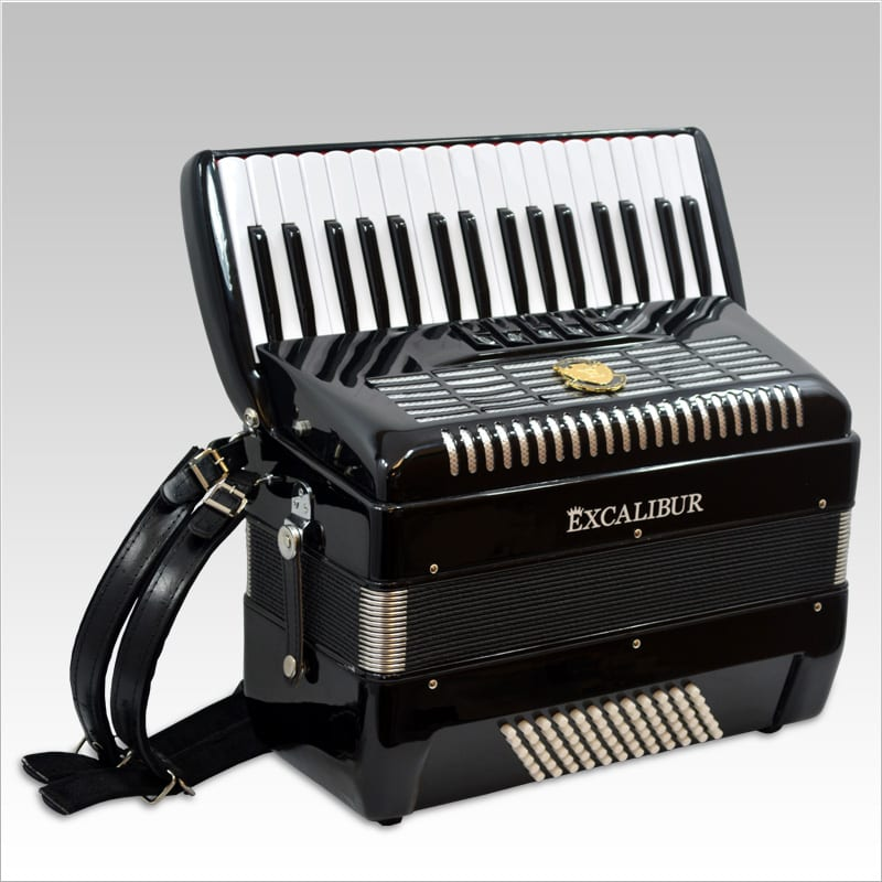 Excalibur German Weltbesten UltraLite 72 Bass Piano Accordion - Ebony Polish