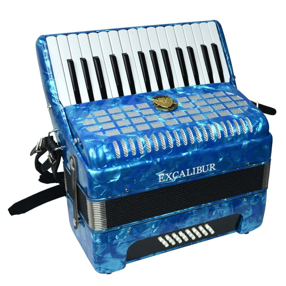 Excalibur Geneva 24 Bass Piano Accordion - Light Blue
