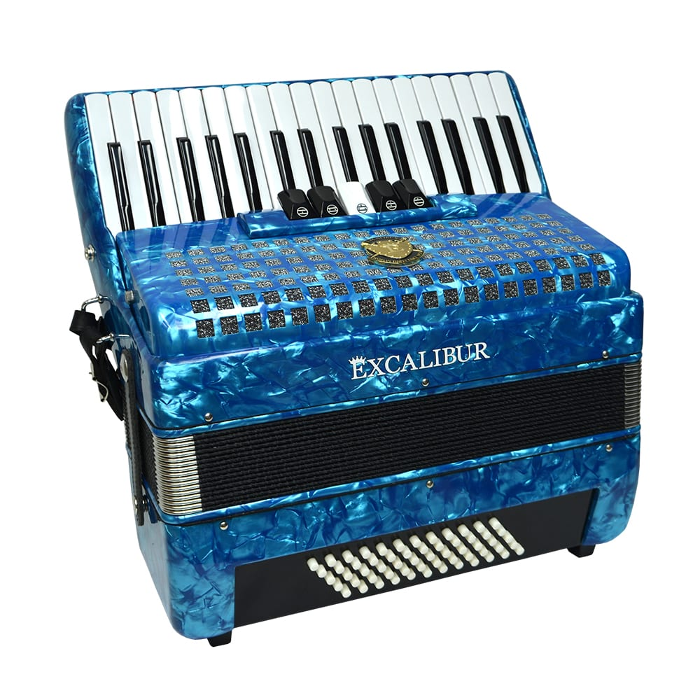 Excalibur Super Classic 60 Bass Accordion - Light Blue