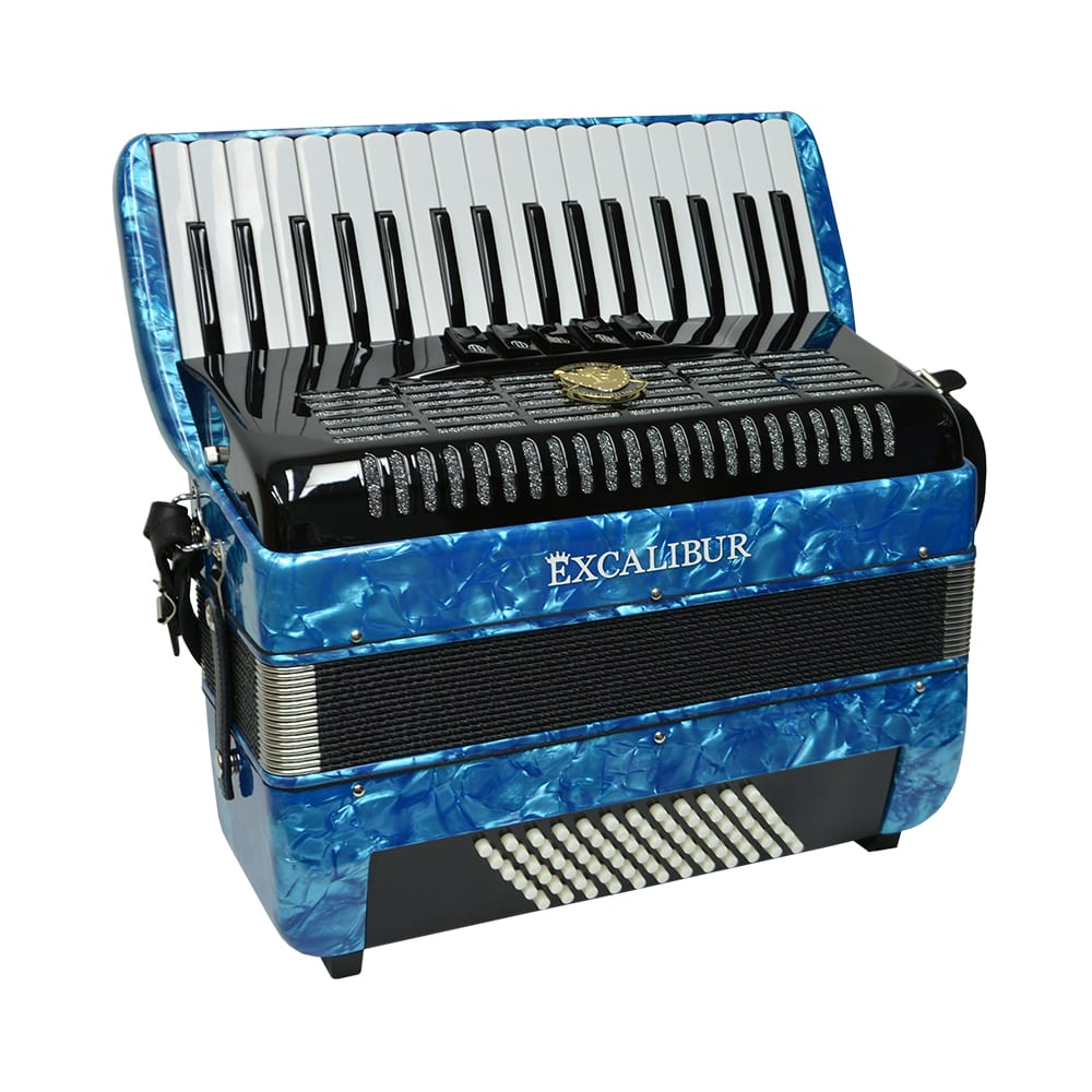 Excalibur German Weltbesten UltraLite 72 Bass Piano Accordion - Pearl Light Blue