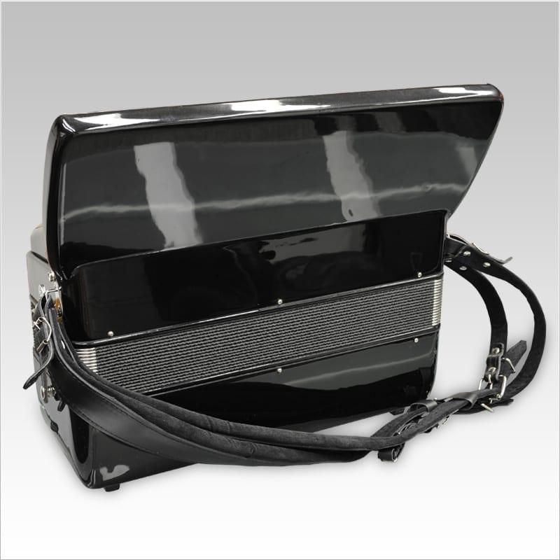 Excalibur German Weltbesten UltraLite 120 Bass Piano Accordion - Black
