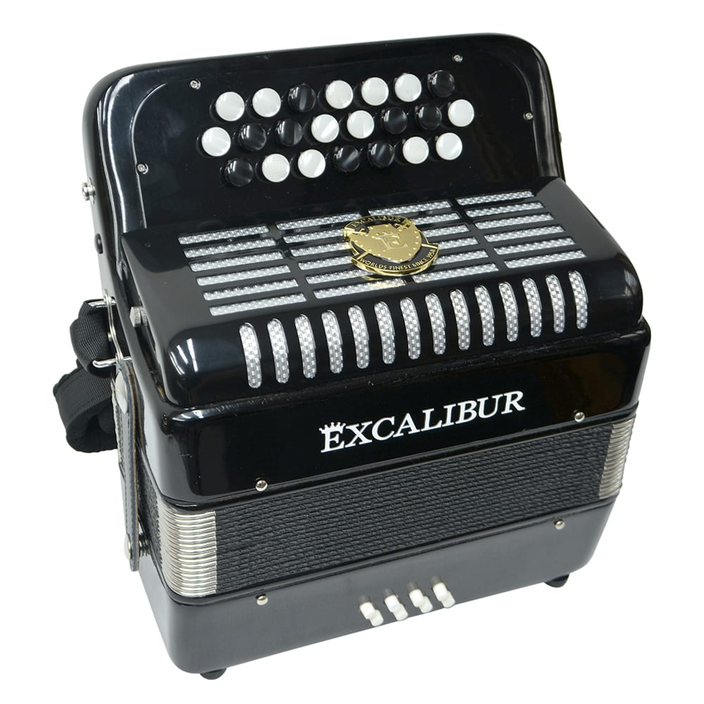 Excalibur Weltbestin 22 Key Chromatic Accordion - Black