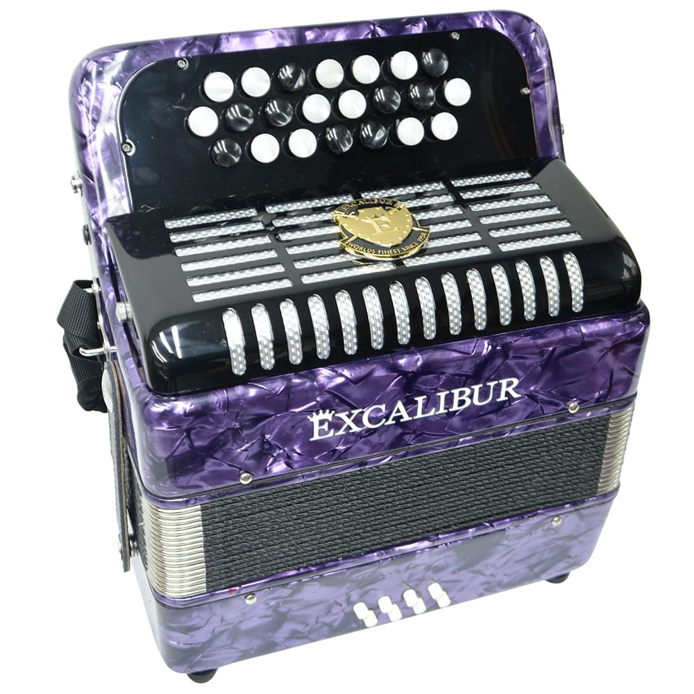 Excalibur Weltbestin 22 Key Chromatic Accordion - Purple