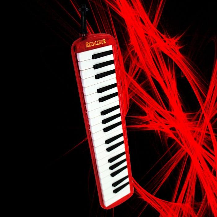 Excalibur Melodica - Transparent Series (Burning Red)