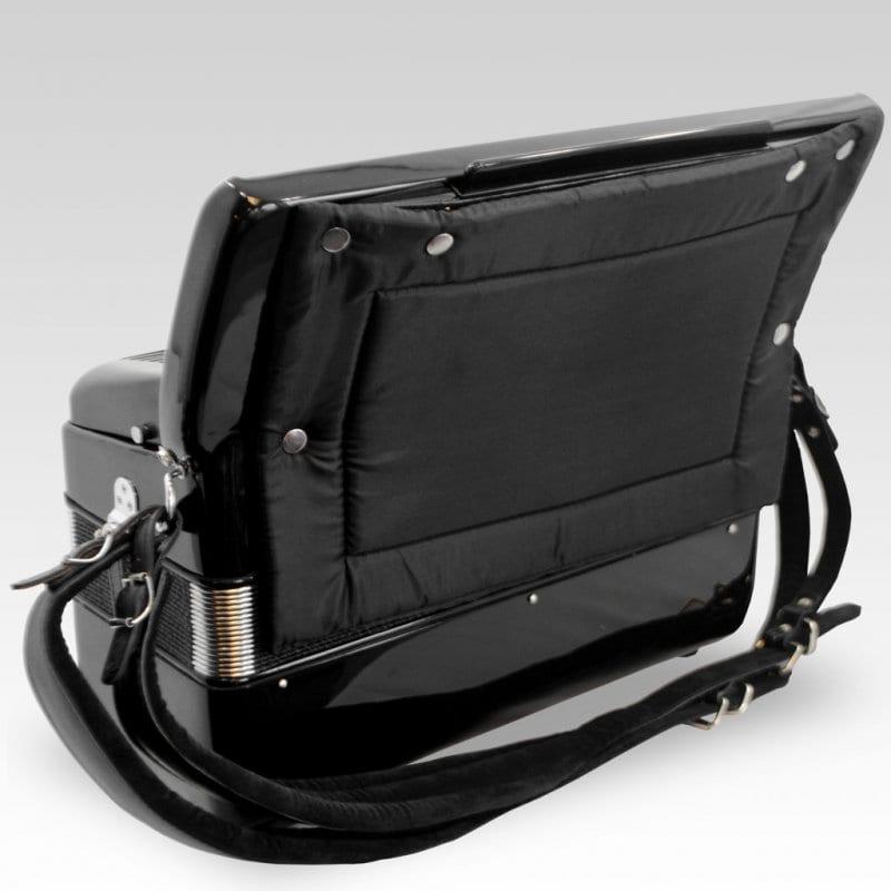 Excalibur German Weltbesten UltraLite 120 Bass 13 Switch Piano Accordion - Satin Polish Ebony