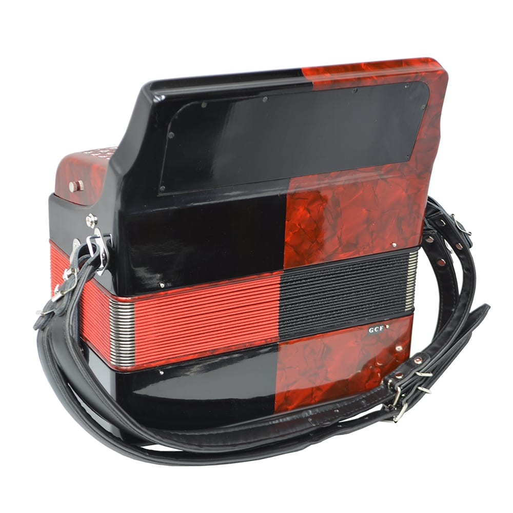 Excalibur Super Classic PSI 3 Row Button Accordion - Red/Black -  Key of GCF