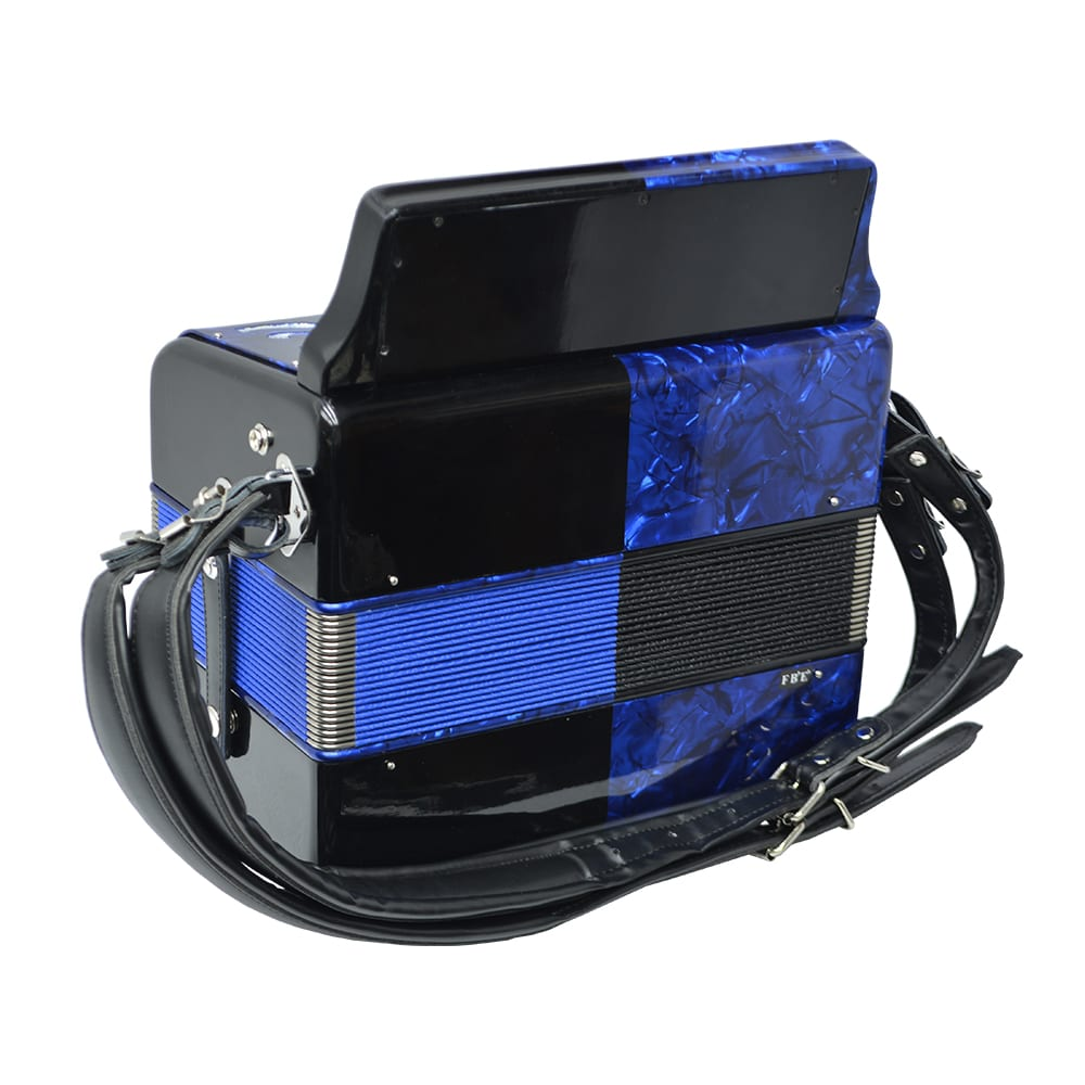 Excalibur Super Classic PSI 3 Row - Button Accordion - Blue/Black -  Key of FBE