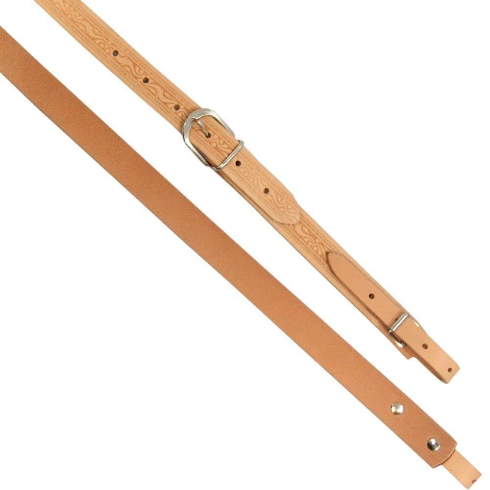 Excalibur Button Accordion Straps - Natural Tan Leather