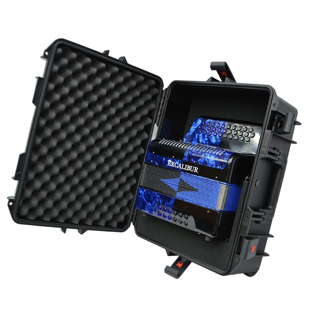 Excalibur Super Classic PSI 3 Row - Button Accordion - Blue/Black -  Key of GCF