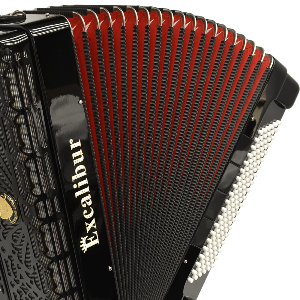 Excalibur Professionale Crown 120 Bass 13 Switch Piano Accordion - Black