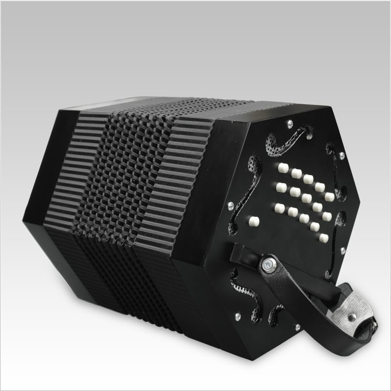 Excalibur Vivo Bellezza V-1B Italian Concertina - Ebony Satin