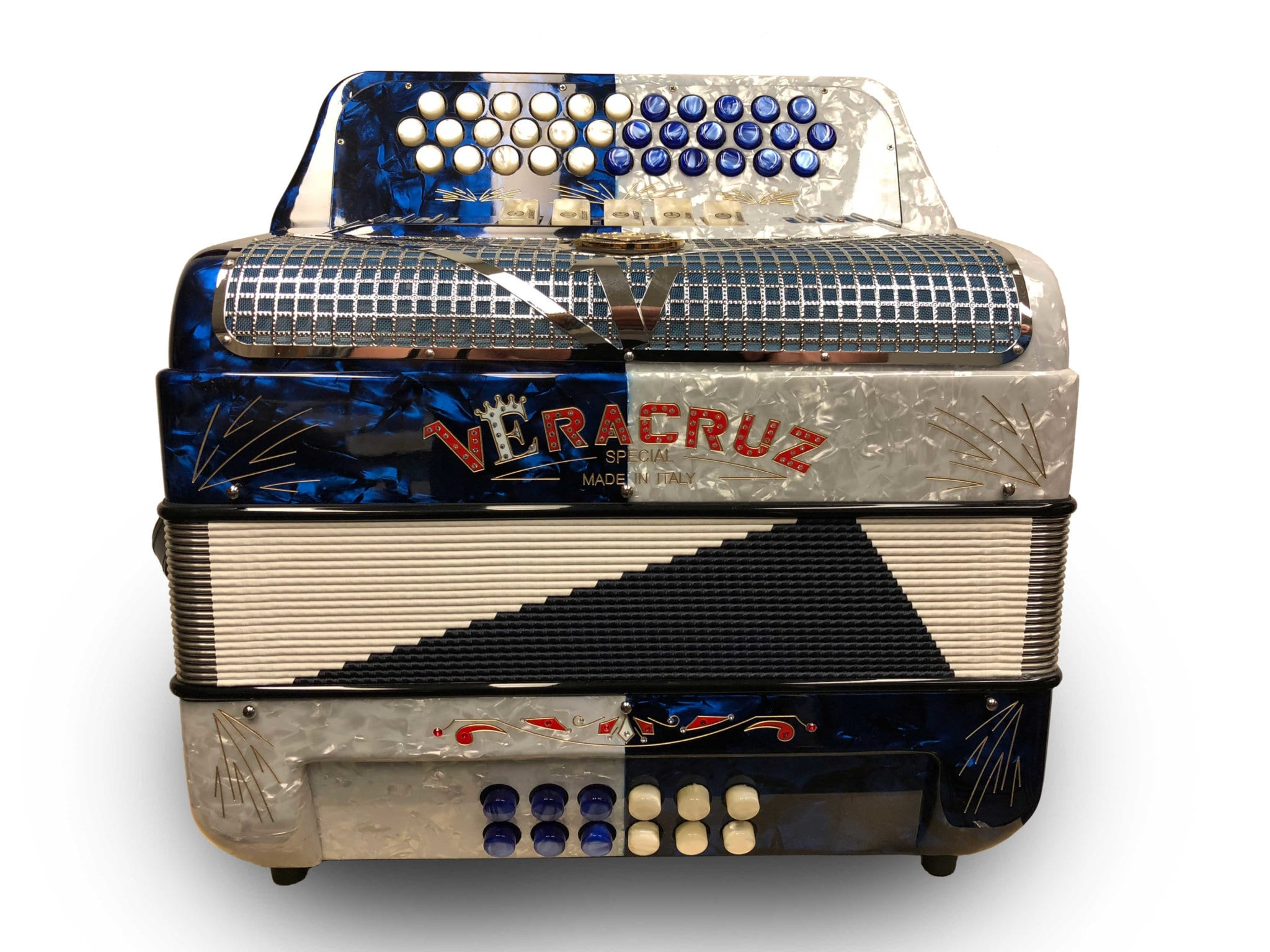 Veracruz Super Italian Special Edition 5 Switch Button Accordion Two-Tone