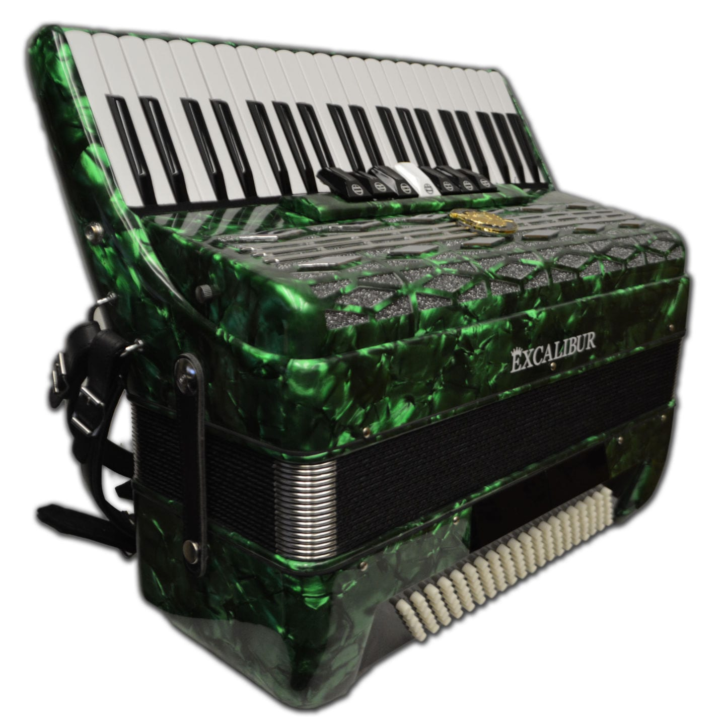 Excalibur Super Classic 120 Bass Accordion - Green