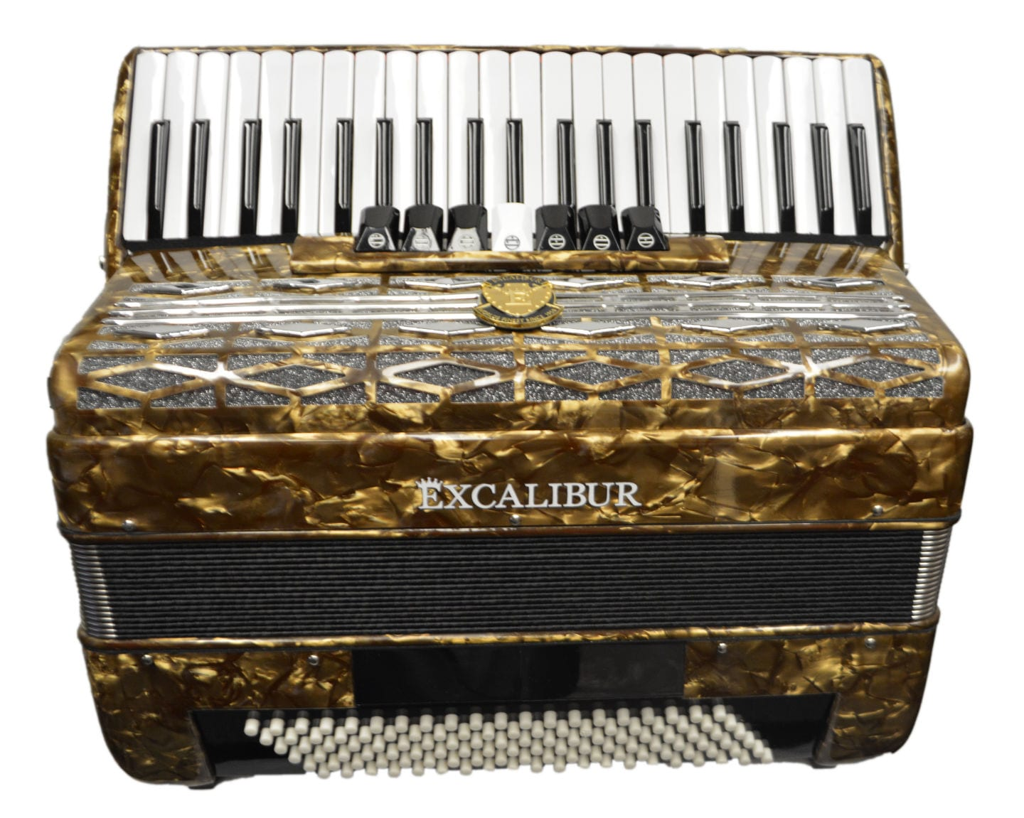Excalibur Super Classic 120 Bass Accordion - Bronze