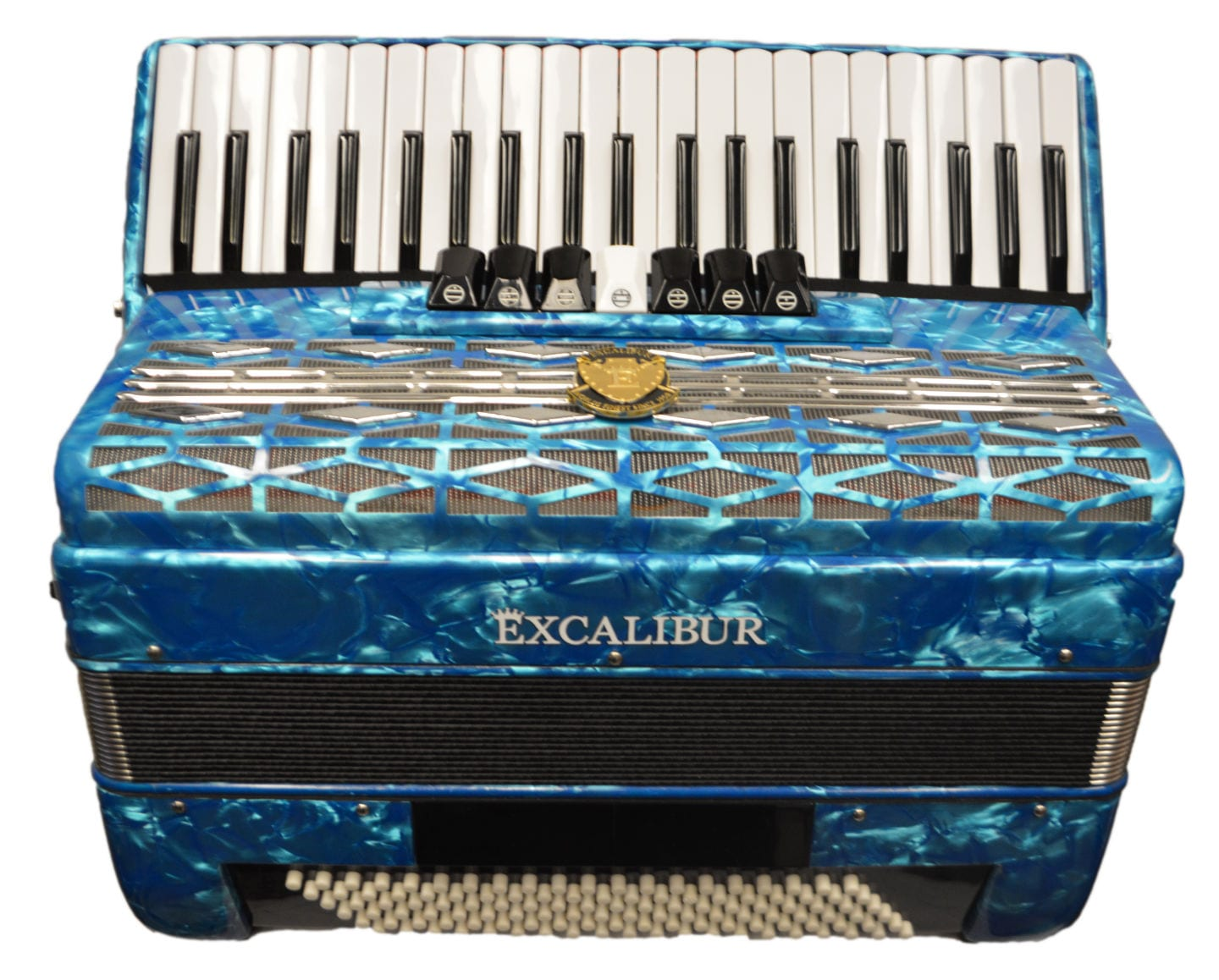 Excalibur Super Classic 120 Bass Accordion - Light Blue