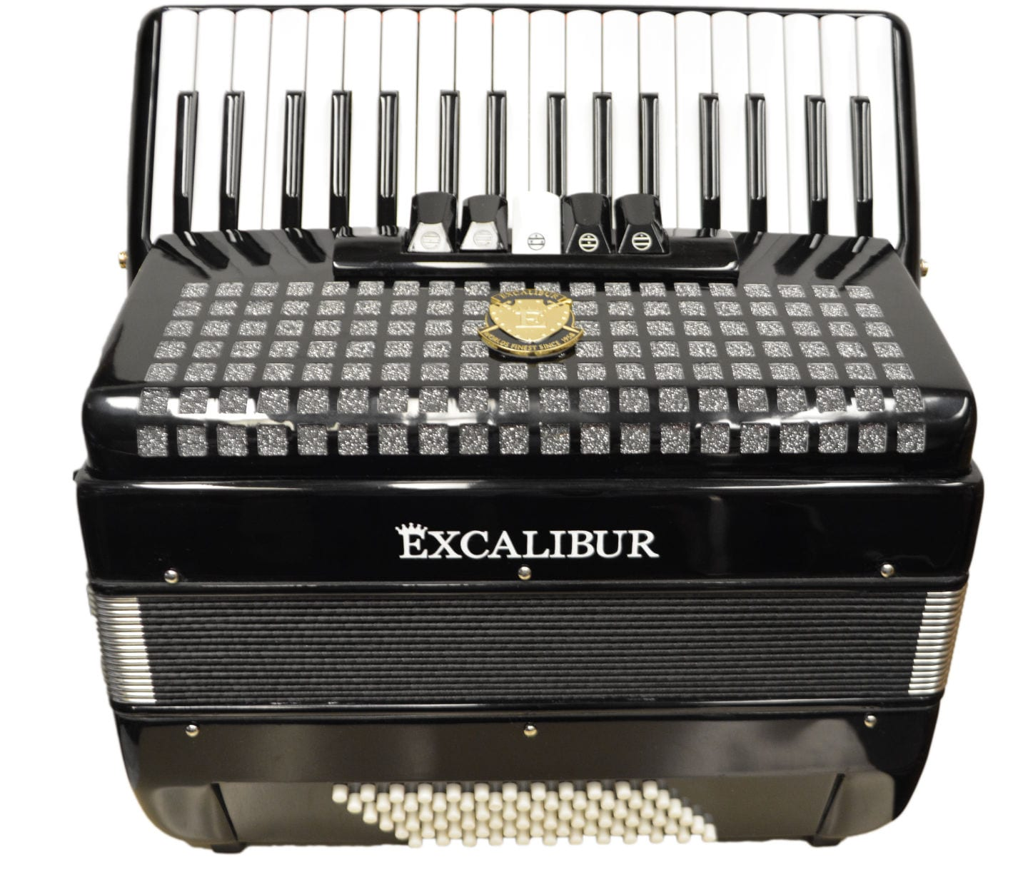 Excalibur Super Classic 72 Bass Accordion - Black