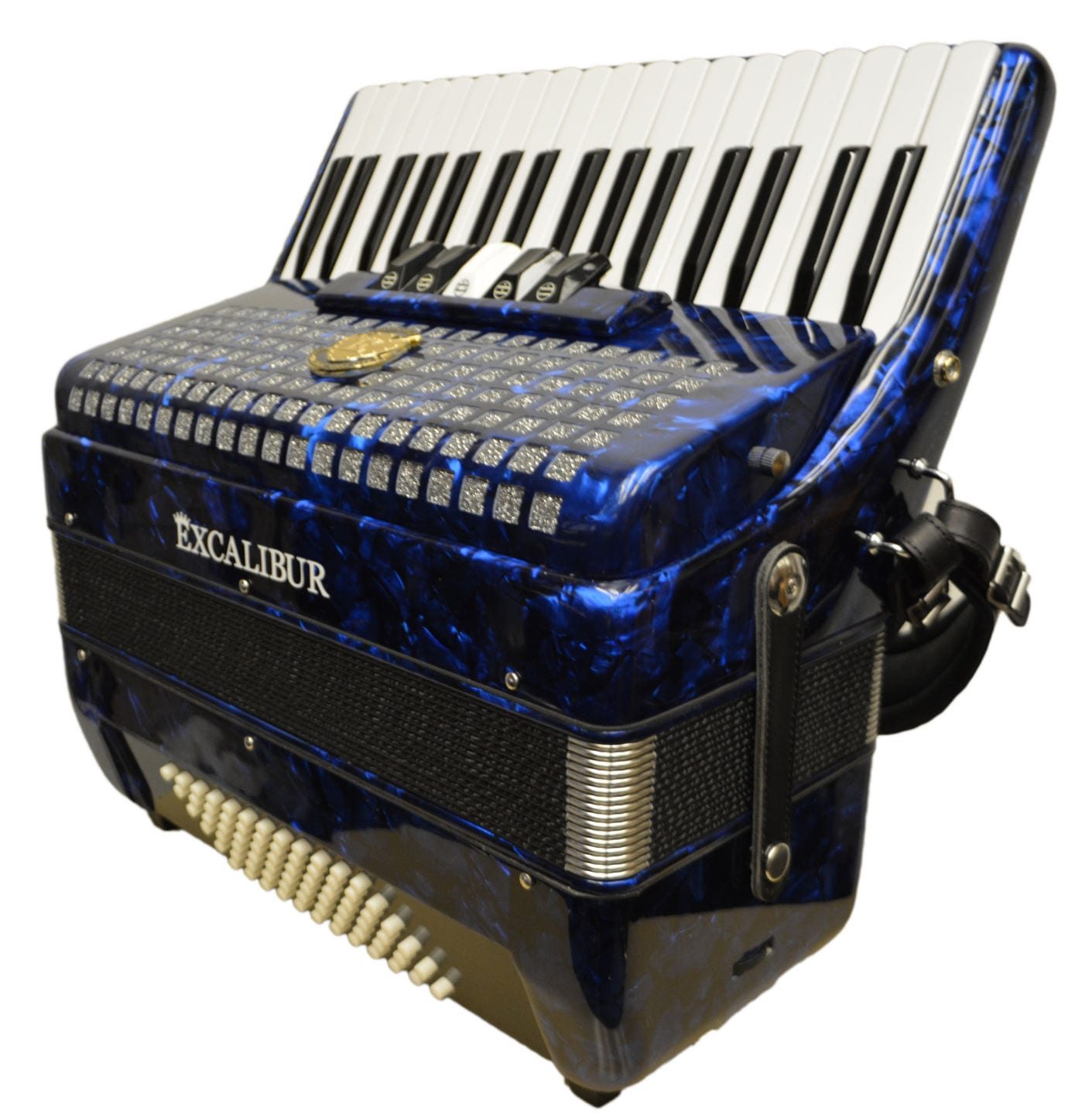 Excalibur Super Classic 72 Bass Accordion - Dark Blue