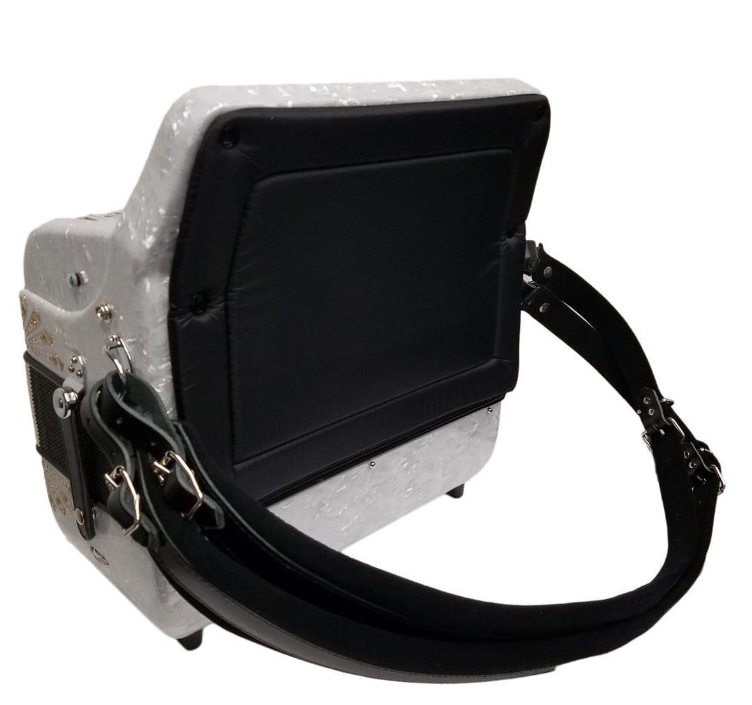 Excalibur Crown Custom 5 Switch Button Accordion White