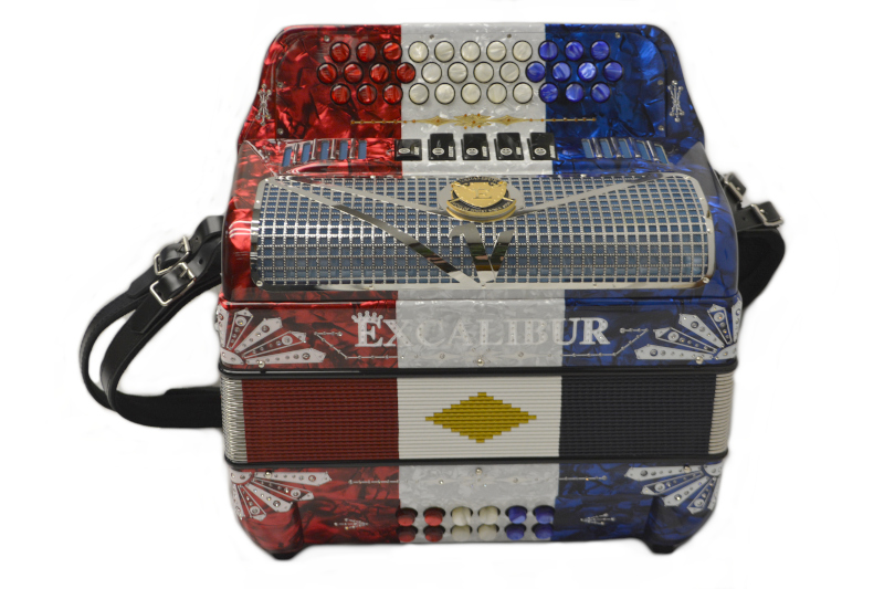 Excalibur Crown Custom American Pro 5 Switch Red/White/Blue Key of FBbEb