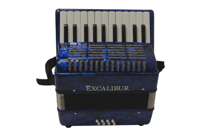 Excalibur Premier 22 Piano Accordion - Dark Blue