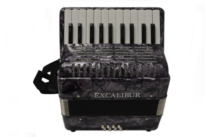 Excalibur Premier 22 Piano Accordion - Purple