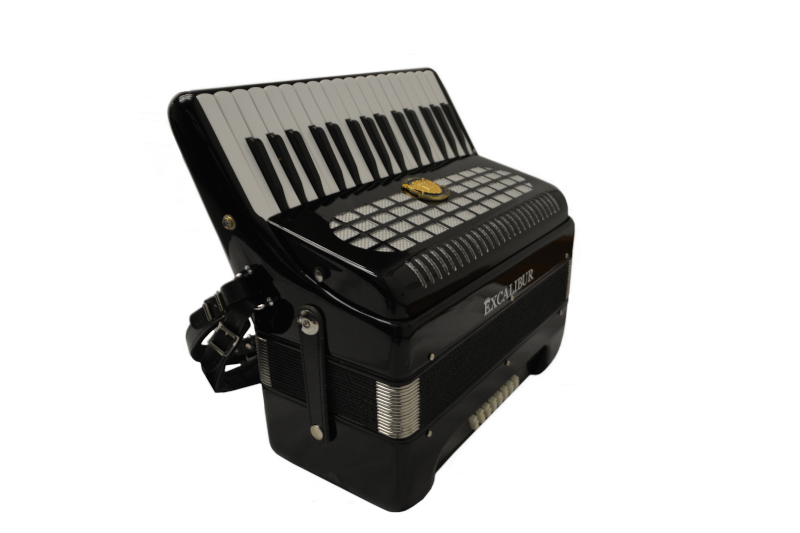 Excalibur Super Classic Ultralight 32 bass Piano Pro Accordion - Black