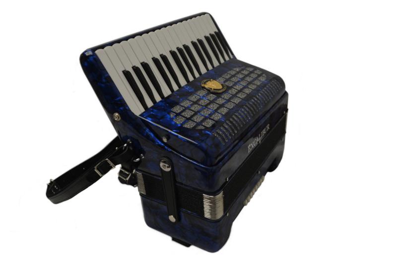 Excalibur Super Classic Ultralight 32 Bass Piano  Pro Accordion - Blue