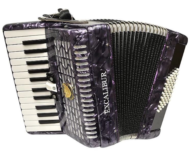 Excalibur Super Classic 48 Bass Piano Accordion - Purple