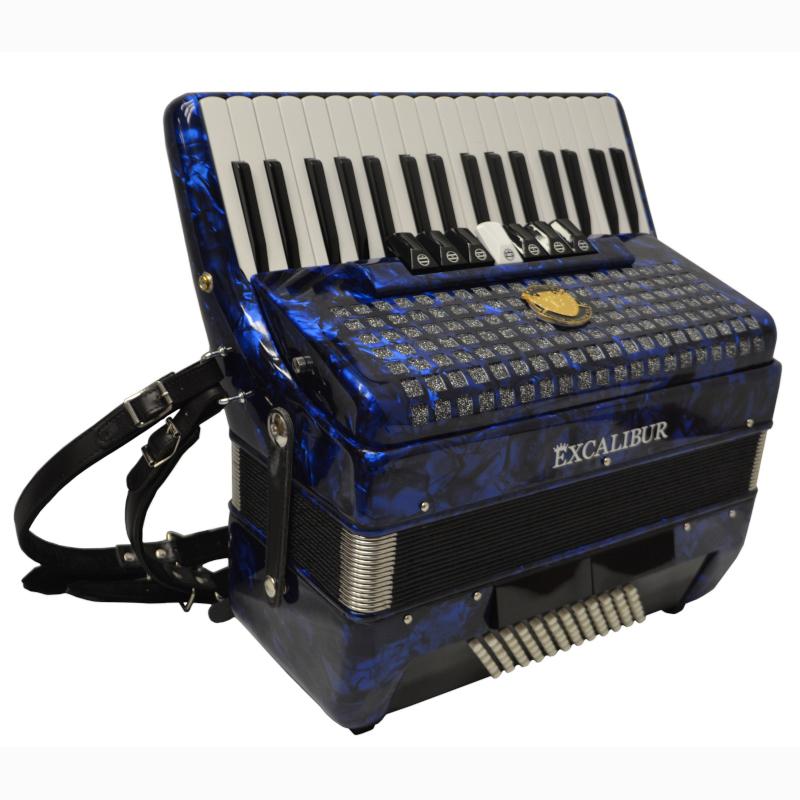 Excalibur Super Classic 72 Bass Piano Accordion Blue