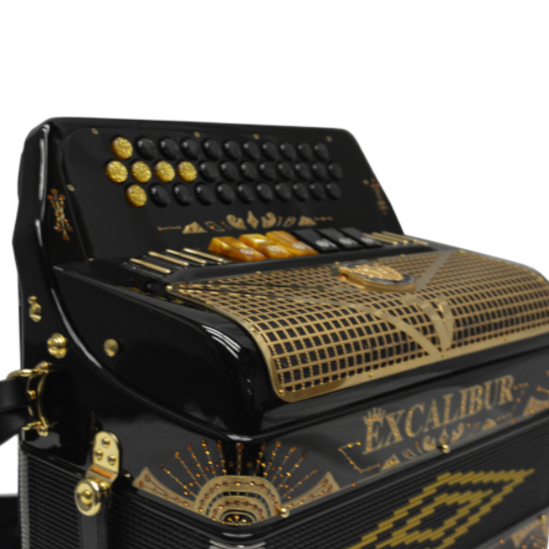 Excalibur Crown Custom Two Tone Button Accordion GCF FBbEb LTD Edition