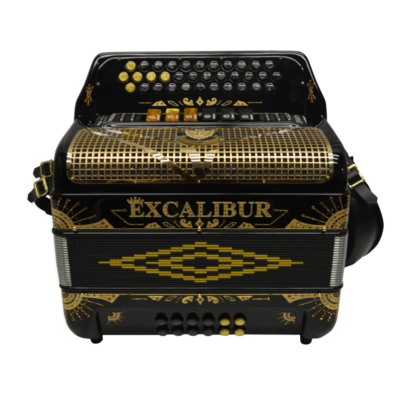 Excalibur Crown Custom Two Tone Button Accordion GCF FBbEb LTD Edition