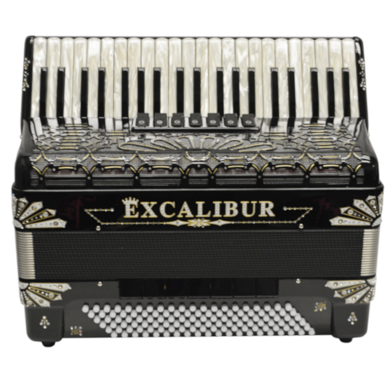Excalibur Electra Edition 120 Bass Piano Accordion Black