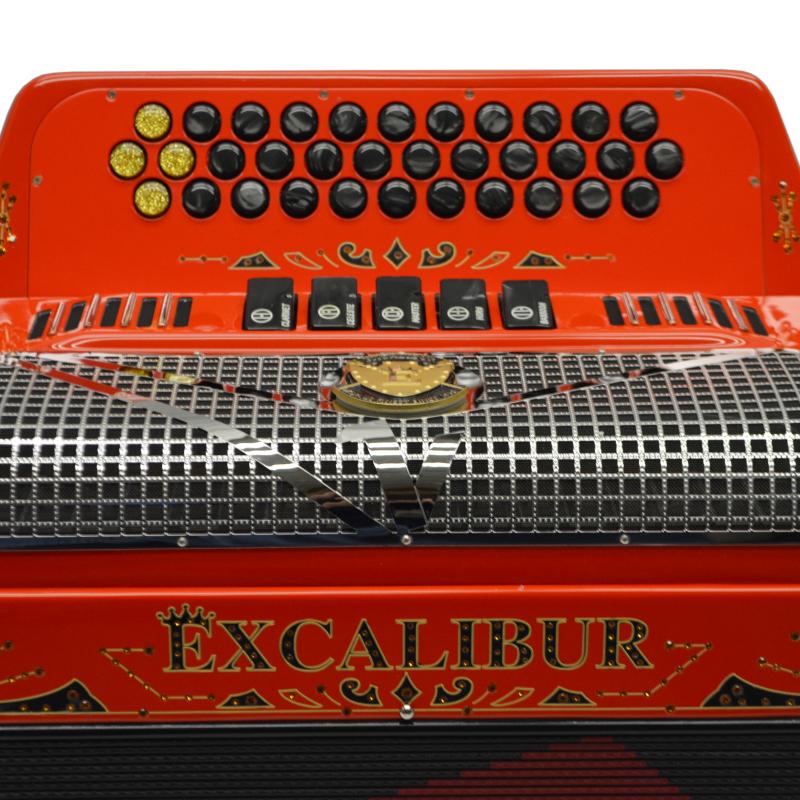 Excalibur Crown Custom Ferrari Red with Engravings