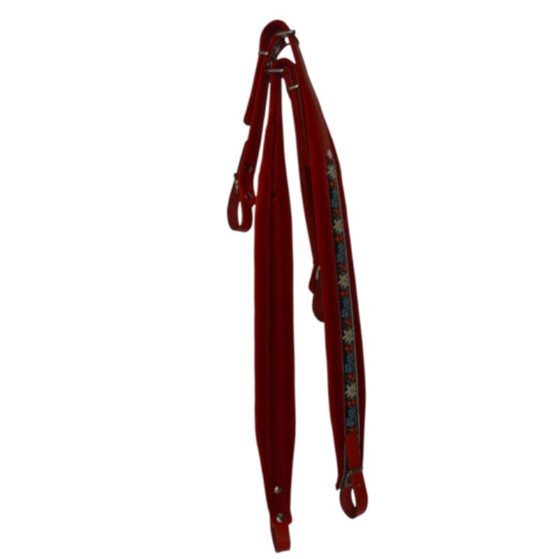 Red Folk Accordion straps by Italian Leatherworks