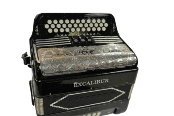 Excalibur 34 Key PSI Ltd Midnight Sky Black Sparkle With Decoration