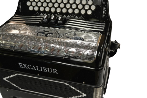 Excalibur 34 Key PSI Ltd Midnight Sky Black Sparkle With Decoration