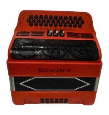 Excalibur 34 Key PSI Ltd  Italian Red With Decoration