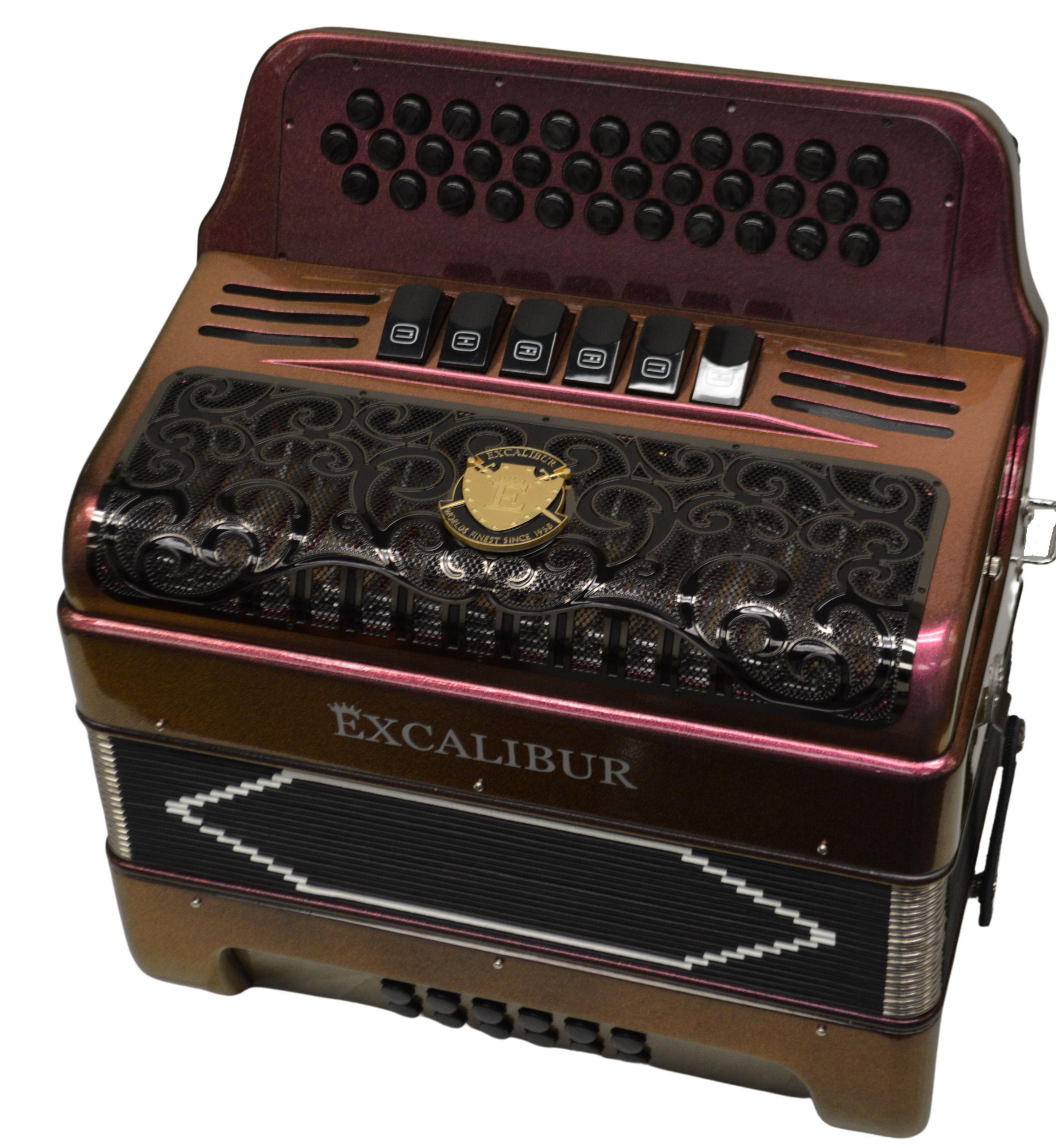 Excalibur PSI LTD 34 Key Two Tone Button Accodion Purple