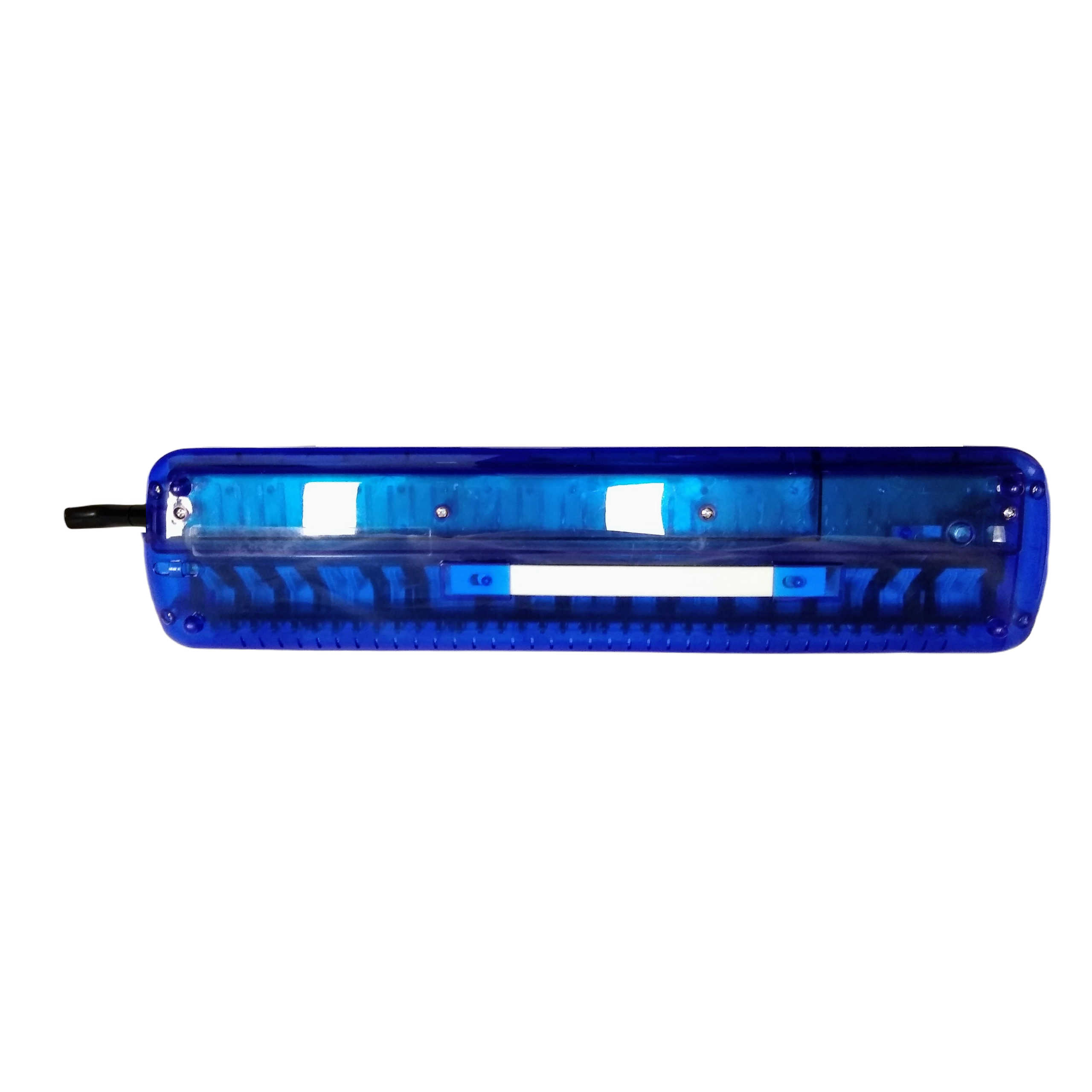 Excalibur 37 Note Transparent Pro Series Plumb Midnight Blue Transparent With Learning System