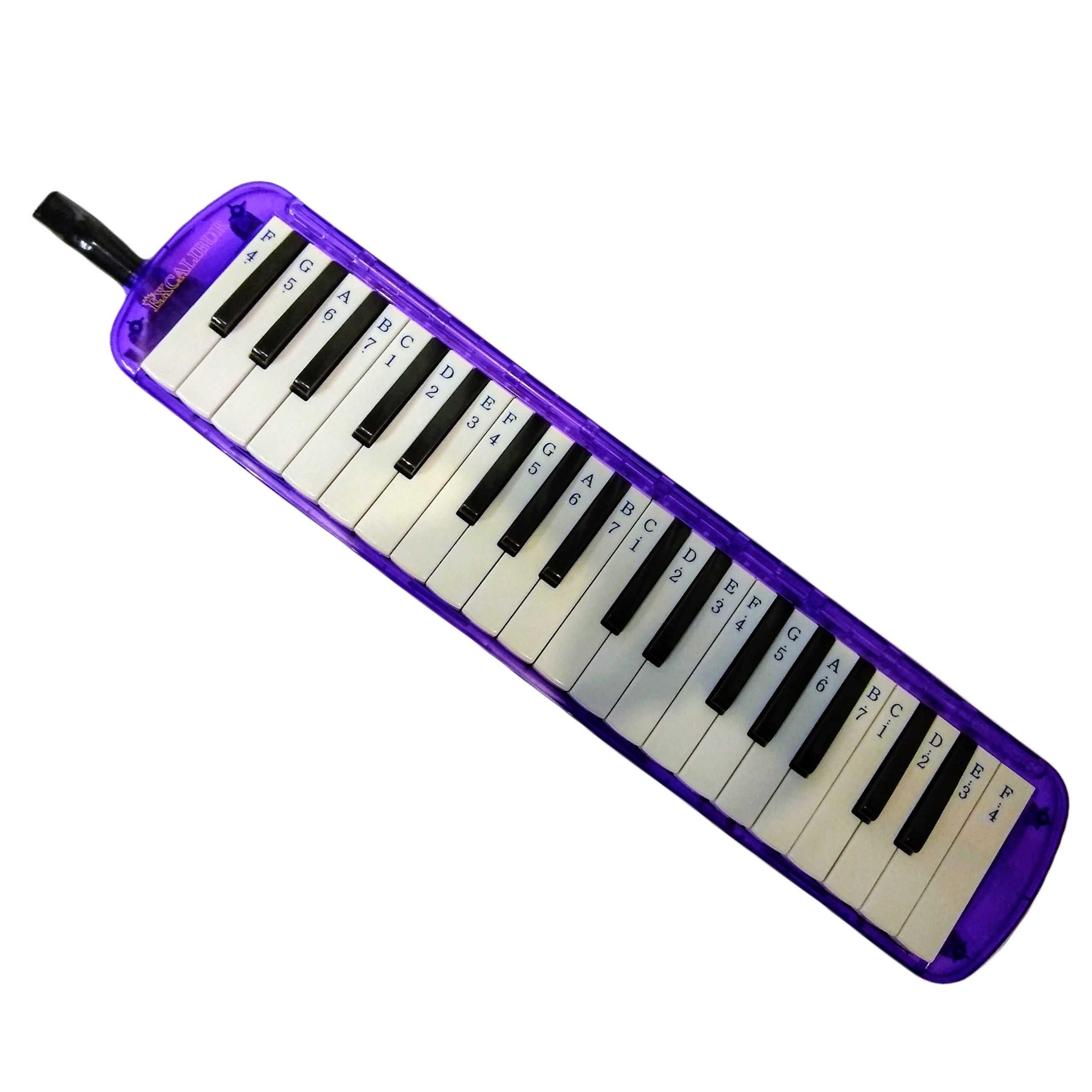 Excalibur 37 Note Transparent Pro Series Plumb Crazy Purple Transparent With Learning System